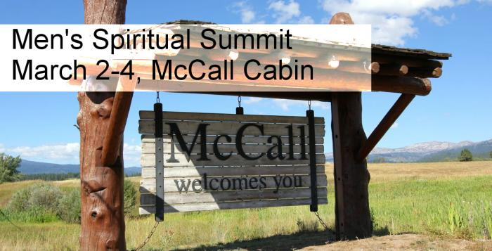 Sign up here for the Men's Spiritual Summit